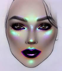 Bold Face Chart Makeup Look Super Pigmented Highlight