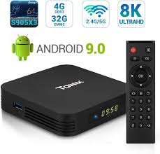 Amazon.com: Android 9.0 TV Box, TaNix TX5 Pro Android Box 4GB RAM 32GB ROM  Dual Band WiFi 2.4G+5G Amlogic Quad Core S905X3 / BT 4.2 / Alice  UI/Supporting 4K 8K (75Hz) Full