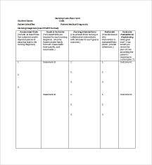 Blank Nursing Care Plan Forms Friendsmh Info