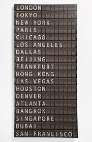 flight departure board wall art