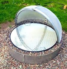 metal fire pit cover. Fire Pit Cover Metal Round Steel Covers Quot Camp Custom N