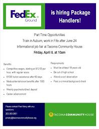 Fedex Sort Observation Fedex Job Fair Tacoma Community House