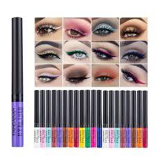 <b>HANDAIYAN 12</b> Rainbow <b>Colors Liquid</b> Eyeliner Glitter Long ...