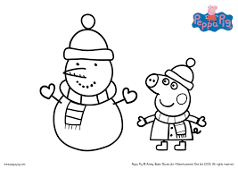 peppa pig printable worksheets the printable colouring in