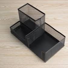 creative office supplies. Package Creative Office Supplies Desktop Multifunctional Iron Net Solid Wood Pen Block White-collar E