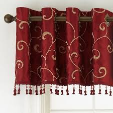 royal velvet plaza embroidery grommet top tailored valance jcpenney