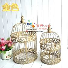 bird cage decoration 1 set gold large bird cage decoration for wedding and home birdcage