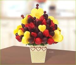 chocolate dipped fruit baskets two full