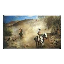 ambush cowboy themed western area rug theme bedding decor large horse rugs hair