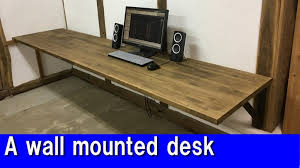 build your own home office. diy a wall mounted desk youtube throughout build your own u2013 home office