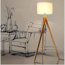 tripod wood floor lamp modern tripod wood floor lamps lights bedroom standard bedside lighting from tripod