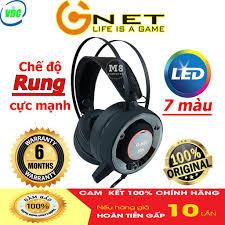 Tai nghe chụp tai chuyên game GNET H7S rung, cảm ứng, led 7 màu dành cho  game thủ - Bảo hành 12 tháng giá cạnh tranh