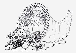 free printable coloring page of cornucopia to