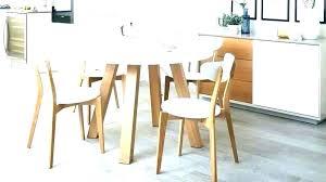 ikea round dining table white kitchen arc 4 gloss and bjursta