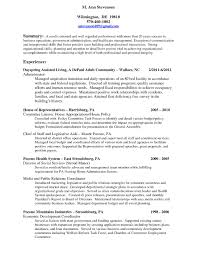 Formidable Nonprofit Director Resume With Executive Director