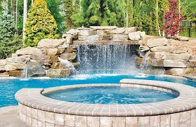 Pools With Waterfalls Custom Swimming Pool Designs Blue Haven