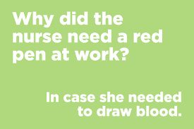why did the nurse need a red pen at work