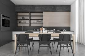 Contemporary Dining Rooms black contemporary dining room with kitchen 3d model max 3ds fbx 1234 by guidejewelry.us