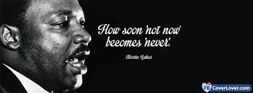 Mlk Quotes About Love Inspiration How Soon Not Now Martin Luther King Quotes And Sayings Facebook