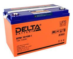 Аккумуляторная <b>батарея DELTA DTM</b> 12100 I 100 А·ч — купить по ...