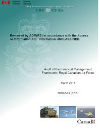 Access Financial Management Audit Of The Financial Management Framework Royal Canadian Air Force