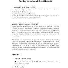 Writing Memo Samples Memorandum Report Example Format Memo Sample Justification