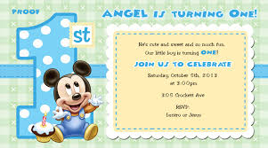 mickey mouse st birthday invitations for girls and boys party baby mickey mouse 1st birthday invitation