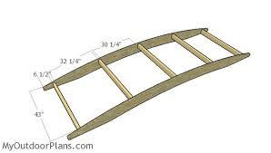 assembling the garden bridge frame