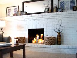 brick painting ideaspainting brick fireplace beige  Tips in Painting Brick Fireplace