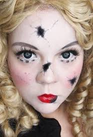 broken doll make up for