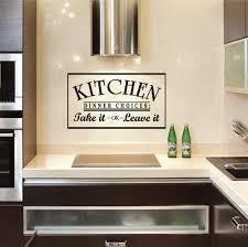 on vinyl wall art quotes for kitchen with kitchen dinner choices take it or leave it wall art decals
