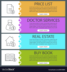 Web Banner Design Price Services Web Banner Templates Set