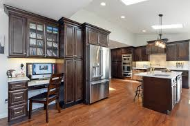 Expresso Kitchen Cabinets Modern Kitchen With Espresso Ebony Stained Cabinets Modern Leather