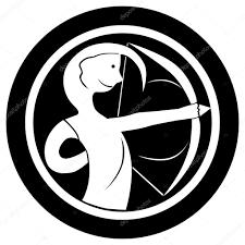 Znamení Zvěrokruhu Střelec Tetování Stock Fotografie Richcat