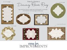 size of rug for dining room. Plain Rug How To Choose A Dining Room Rug In Size Of For