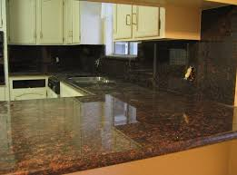 Kitchen Backsplash With Granite Countertops Inspiration Kitchen Design Dark Brown Granite Countertops With Backsplash The