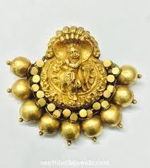 Krishna Pendant Designs In Gold Antique Krishna Pendant Design Gold Hair Accessories