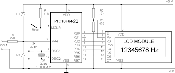 frequency counter circuit diagram the wiring diagram 16f84 frequency counter savel brain dump in english circuit diagram