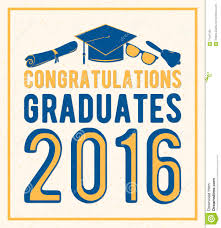 Class Of 2016 Design Vector Illustration On Light Background Congratulations