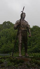 black wood. chartist statue in blackwood black wood
