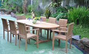 nice teak wood patio furniture set 13 piece teak dining set how to refinish teak patio