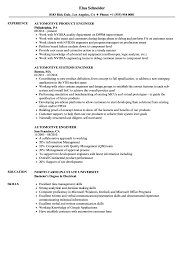 Automotive Engineer Resume Samples Velvet Jobs