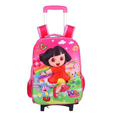<b>New</b> Design Cartoon Wheeled Children's <b>Trolley</b> Book Backpack ...