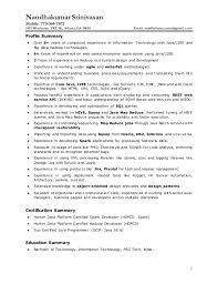 Certified Developer Resume Nandha Kumar Srinivasan Resume