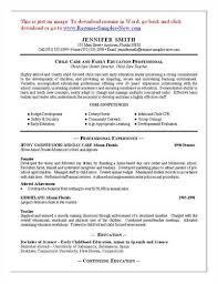 Daycare Worker Resume Child Care Resume Objective Sample Download