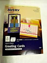 Avery Greeting Cards Avery Greeting Cards 3297 Half Fold 20 Per Package