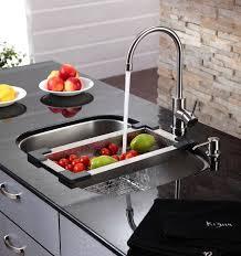 kraus stainless steel sinks.  Kraus KRAUS Stainless Steel Colander Inside Kraus Sinks M