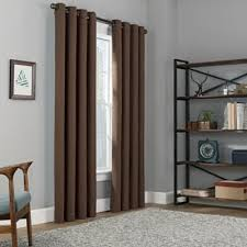 brown blackout curtains. Copley Square 63-Inch Grommet Top Blackout Window Curtain Panel In Chocolate Brown Curtains W