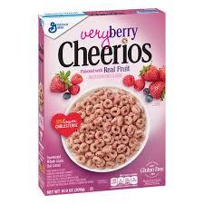 general mills very berry cheerios gluten free breakfast cereal