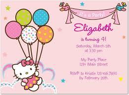 Hello Kitty Party Invitation Hello Kitty Tiny Prints Birthday Invitation The Little